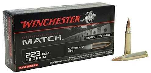 Winchester MATCH .223REM 69GR BTHP 20BX S223M2