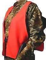 Hunter Specialties HS BLAZE ORANGE SOLID ADULT VEST 02000