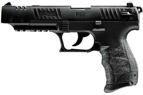 "Walther P22 22 Long Rifle Target 5"" Barrel 10 Round Black Semi Automatic Pistol 5120302"