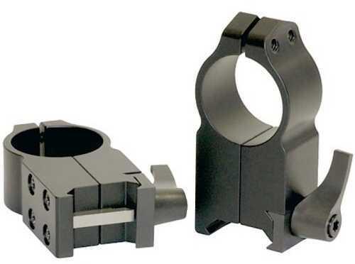 Warne Maxima Rings 30mm Ultra High Matte Black 217LM Weaver Style