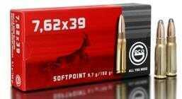 Ruag Ammotec GECO 7.62mmx39mm 124GR FMJ 20Box Zinc Plated Steel Case 365841000
