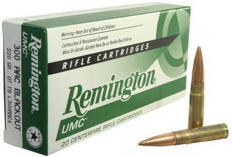 Remington  300AAC Bo 220Gr Open Tip Flat Base 20 Box L300AAC4