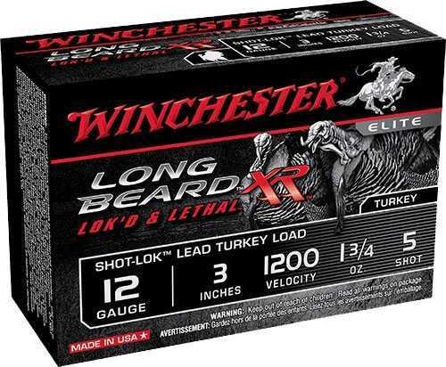 "Winchester Long Beard XR Lead Turkey 12ga 3"" 1-3/4oz 5 Shot 10Bx/10Cs STLB1235"