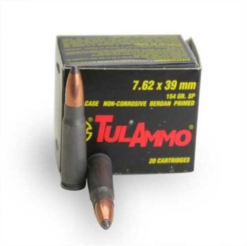 Tulammo TULA 7.62X39 154Gr SP 20 Rds Steel Cased Ammunition 076208