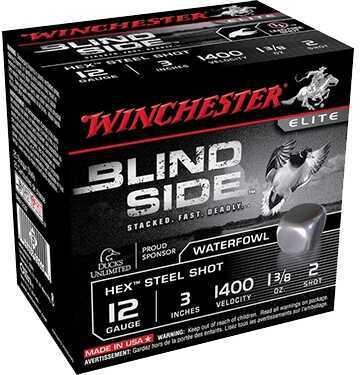 "Winchester Blind Side HV Waterfowl 12ga 3"" 1-1/8 oz BB Shot 250 rounds SBS123HVBB"