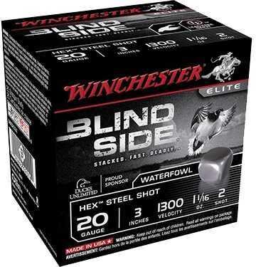 "Winchester Blind Side HV Waterfowl 20ga 3"" 7/8oz 6 Shot 250 rounds SBS203HV6"