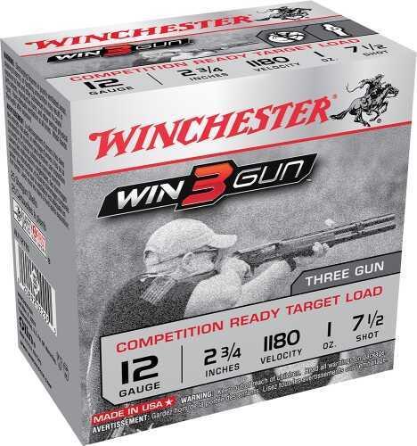 Winchester Win3Gun Target 12 Gauge 2.75 Inch 1 Ounce #7.5 Shotshells, 250 Round Case Md: XLT127TG