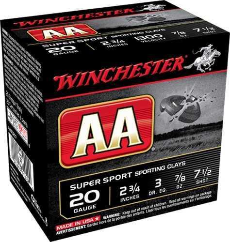 "Winchester TrAAcker Orange 20ga 2.75"" 7/8 oz 7.5 Shot 250 rounds AASC207TO"