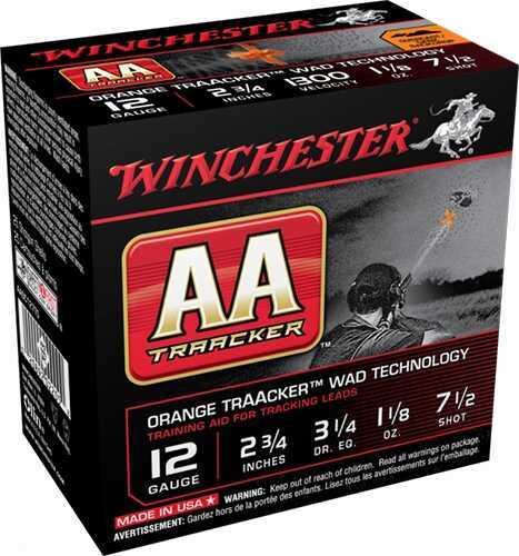 "Winchester TrAAcker Black 20ga 2.75"" 7/8oz 7.5 Shot 250 rounds AASC207TB"