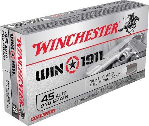 Winchester 1911 45AUTO 230GR FMJ 50BX X45T