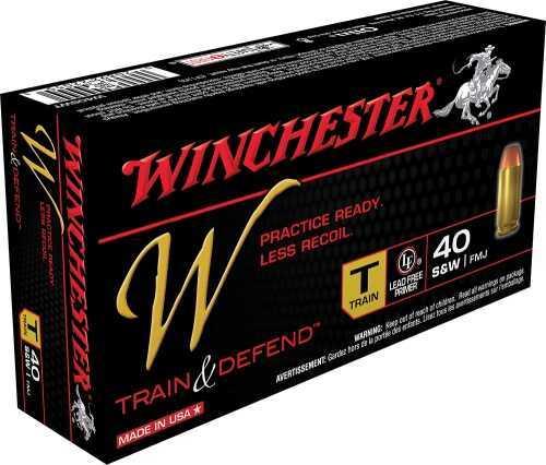 Winchester TRAIN 40SW 180GR RL FMJ 50BX W40SWT