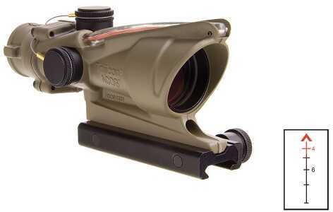 Trijicon TA31D100310 ACOG Sight 4x32mmObj 36.8ft@100yds FDE Dual Illum Red Chevron TA31-D-100310