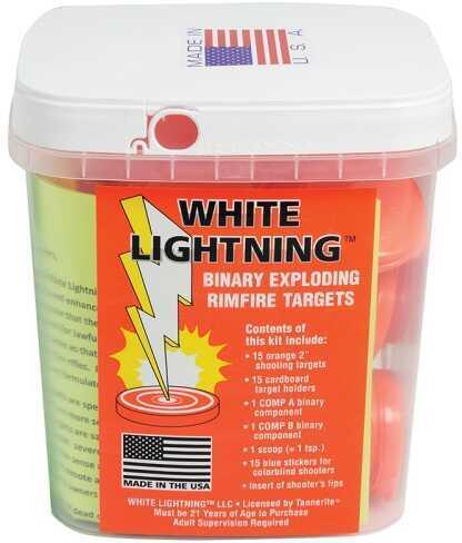 Tannerite White Lightning Rimfire Target Kit Target 15 Targets and Holders 15/Pack WLK
