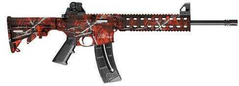 "Smith & Wesson M&P15-22 SA 22 Long Rifle 16.5""  Barrel 25+1 6-Position Stock Harvest Moon Orange/Black Semi Automatic Rifle 10043"