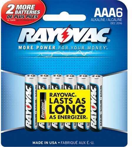 Rayovac / Spectrum Rayovac/Spectrum Rayovac Battery 1.5V Alkaline AAA 6PK 8246F