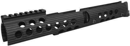 "Troy Industries Troy AK47 Extended Handguard Rail Set 5"" Top 13.5"" Bottom Alum Black SRAIAK1L0BT0"