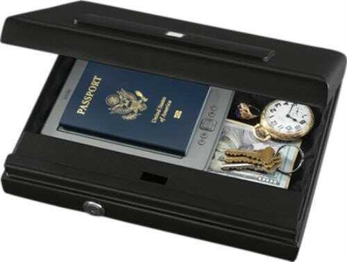 "Stack-On Pc1665b Biometric Lock Large Portable Safe 12.11"" W X 12.5"" D X 2.52"" H Black"