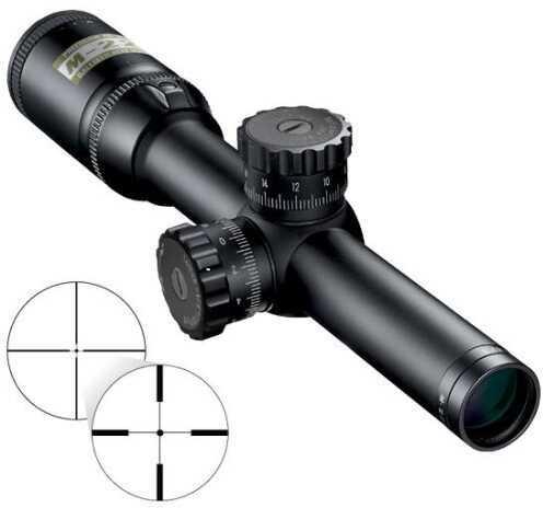 "Nikon M-233 1-4x20 Riflescope Point Blank Reticle 1"" Tube 1/4 MOA Matte Black 16300"