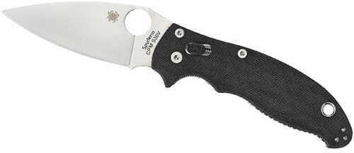 """Spyderco Knife C101 Folder 3.4"""" CPM-S30V Flat Ground Plain Edge G10 Black C101GP2"""