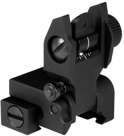 Aim Sports Inc. Aim Sports AR Low Profile Flip Up Rear Sights AR-15 Black MT201