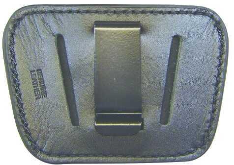 PS Products Inc./Sprtmn CH PSP Belt Slide Holster Pistol Medium/Large Black Leather HL035BLK