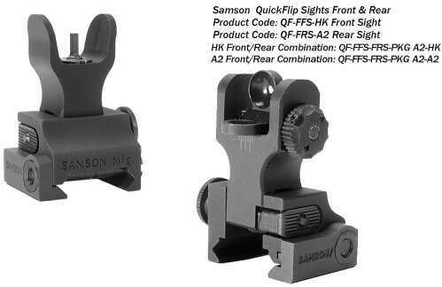 Samson Manufacturing Corp. Samson Manual Folding A2 Front/Rear AR-15 Alum Black FFS-FRS-PKG