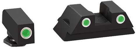 Ameriglo LLC. Ameriglo Classic 3 Dot Night Sights Glock 42 Black Green Front and Rear GL380