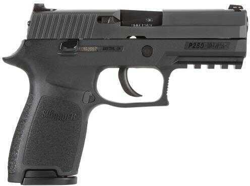 "Pistol Sig Sauer P250 Cmpt DAO 9mm Luger 3.9"" 10+1 NS Poly Grip Black, MA Approved 250C9BSSMA"