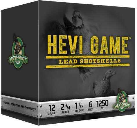 "Hevi-Shot HeviShot Hevi Game 20 Gauge 2.75"" #6 Shot 1oz 25 Box 92036"