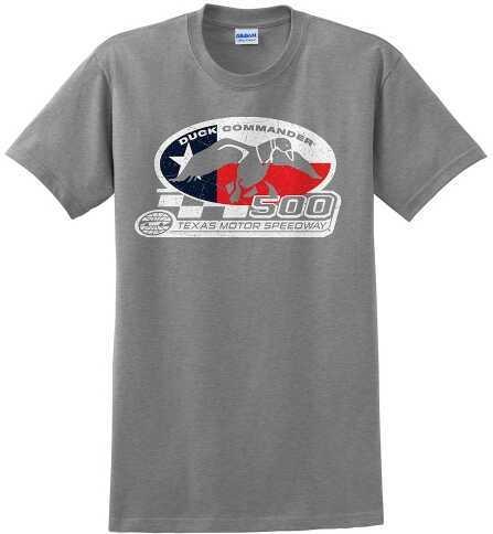 Duck Commander Texas Flag T-Shirt Short Sleeve Gray Med Cotton 10Pk DS500TFM07