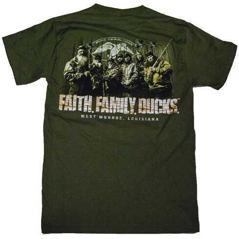 Duck Commander Faith.Family.Ducks. T-Shirt Moss Green S Cotton DCSHIRTMFFD
