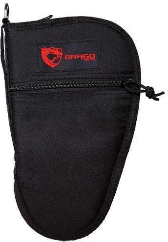 Drago Gear Pistol Case 600D Polyester Zipper Mag Pouch Black 12314BL