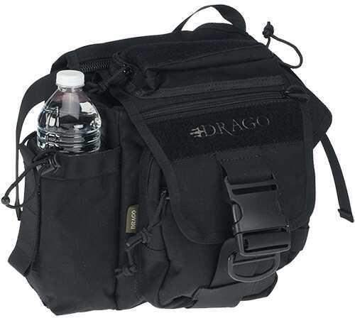 """Drago Gear 15-301BL Hiker Shoulder Pack Tactical 1000D Nylon 11""""x11""""x6.5"""" Black 15301BL"""