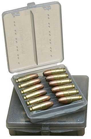 MTM Handgun Ammo Wallet 38/357 6-12 rds Polyethylene Clear Smoke W128B