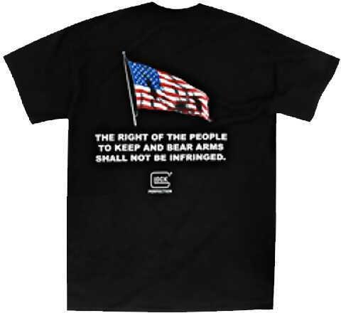 Glock 2nd Amendment T-Shirt Black XXXL Cotton/Polyester Short Sleeve AA49012