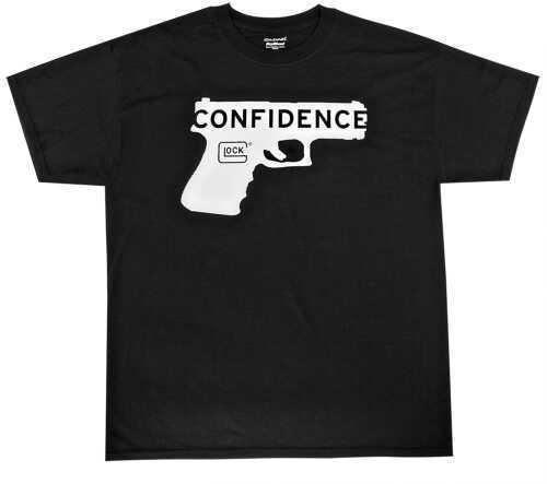 Glock Short Sleeve Confidence T-Shirt X-Large Cotton/Polyester White/Black AA44004