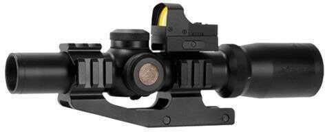 "Aim Sports ACRFFR Tri-Illuminated Red Dot 1-4x24mm Obj 4.2"" Eye Relief 3 MOA Blk"