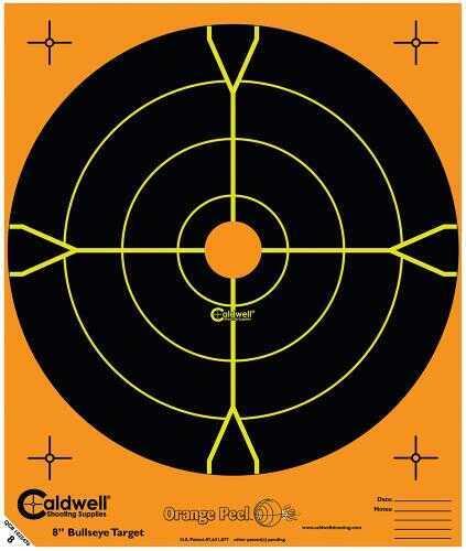 """Caldwell Orange 8"""" Peel Bullseye Targets, Pack of 25"""