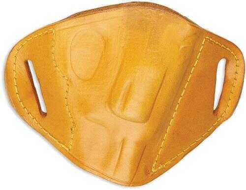 Bulldog Cases Bulldog MLTS Belt Slide Small Automatic Handgun Holster Right Hand Leather Tan