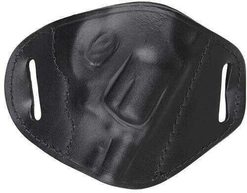 Bulldog Cases Bulldog Belt Slide Small J Frame Revolver Right Hand Holster, Leather Black