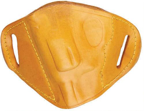 Bulldog Cases Bulldog Belt Slide Small J Frame Revolver Holster Left Hand Leather Tan MLTLRS