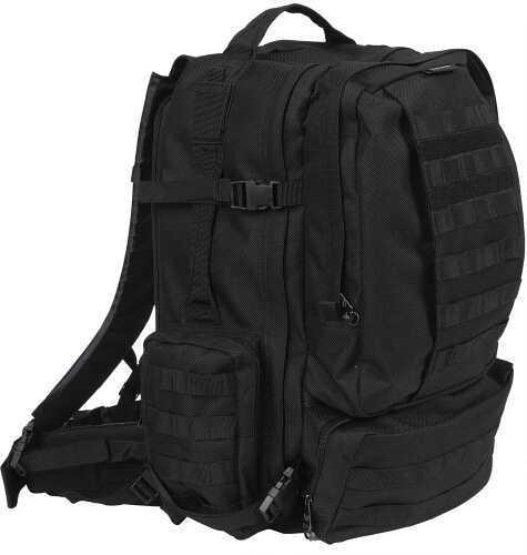 "Bulldog Cases Bulldog Extreme Large Modular MOLLE Assault Backpack 20"" x 19"" x 12"" Nylon Black BD412"