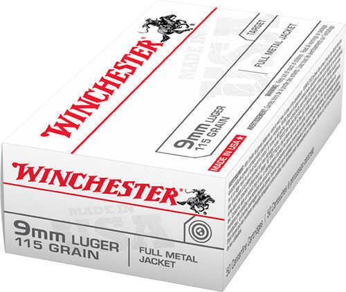 Winchester 9 mm Luger 115 GR Full Metal Jacket Per 50 Q4172B