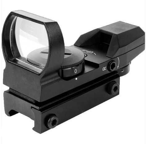 Aim Sports Inc. AimSports Warfare Reflex 1x 24x34mm IL R/G Multi-Ret 3MOA Dot Black RT4WF1