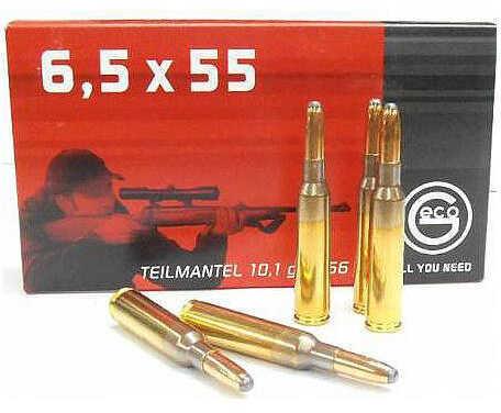 Ruag Ammotec GECO Target 6.5x55 Swedish Mauser Express Tip 156 GR (Per 20) 281540020