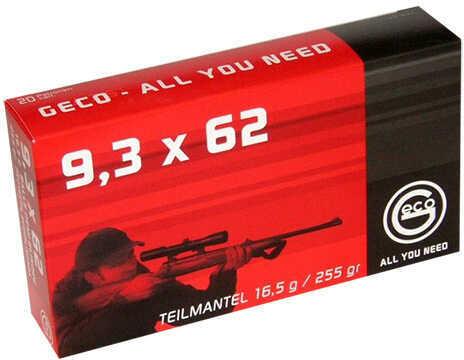 Ruag Ammotec GECO 9.3x62mm Mauser Soft Point 255 GR (Per 20) 284740020