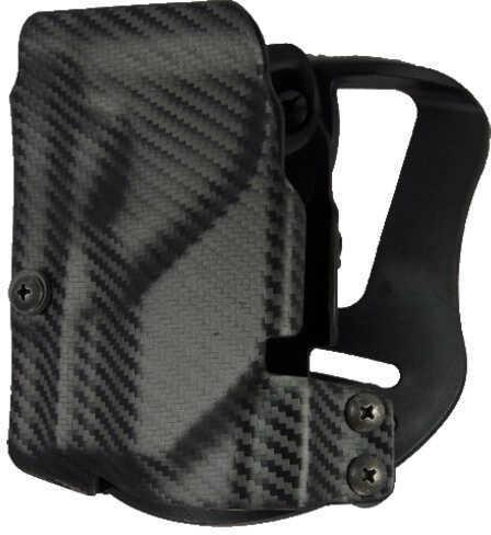 UM Tactical Universal Holster Paddle Attach Left Hand Carbon Fiber Black UMH3CL