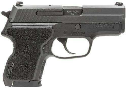 "Sig Sauer P224 40 S&W SA/DA Actions 3.5"" Barrel 10+1 Rounds Front Fiber Optic Sight Siglite Night Sight Rear Hogue G10 Grip Black Semi-Automatic Pistol E2440BSS"