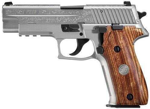 "Pistol Sig Sauer Sig P226 Engraved SA/DA 9mm Luger 4.4"" 15+1 Wood Grip Stainless Steel E26R9SSSESM"