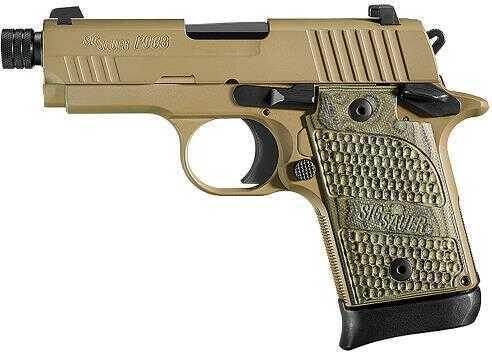 "Sig Sauer P938 Scorpion 9mm Luger 3.4"" Barrel 6 Round Flat Dark Earth Semi Automatic Pistol 938-9-SCPN-TB"